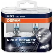 Крушки 12V Hb3 12V Osram OSRAM HB3 12V 60W NIGHT BREAKER UNLIMITED КОМПЛЕКТ  62.90 ЛВ.
