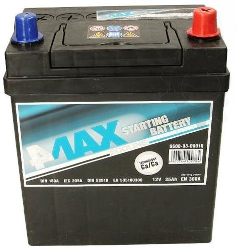 АКУМУЛАТОРИ 4MAX 4MAX STARTING BATTERY JAP 4MAX STARTING BATTERY JAP 35AH 300A R+ цена